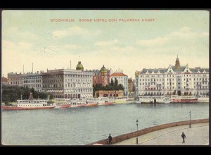 AK Stockholm Grand Hotel Och Palmeska Huset Schweden (12225