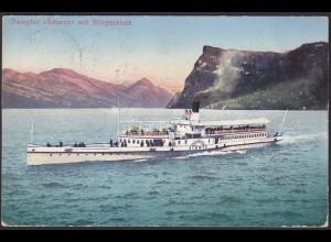 AK Dampfer Schweiz mit Bürgenstock Obbürgen 1916 (12231