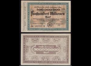 Rheinland - Solingen 500 Millionen Mark 1923 umlaufsfähiges Notgeld Reg.Bz(15362