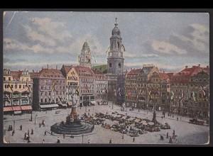 AK Altmarkt Kreuzkirche Rathhaussturm Dresden (12239