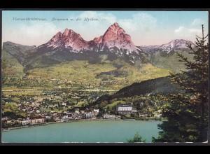 AK Vierwaldstättersee Brunnen u. die Mythen Gesamtansicht (12254