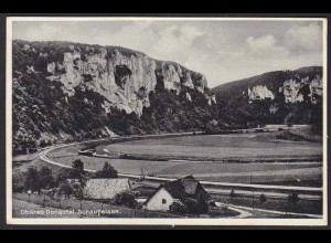 AK Oberes Donautal Schaufelsen Eisenbahstrecke 1939 (12257