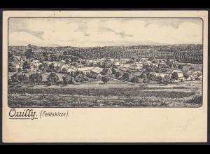 AK Ouilly Feldskizze Feldpost 1915 (12276