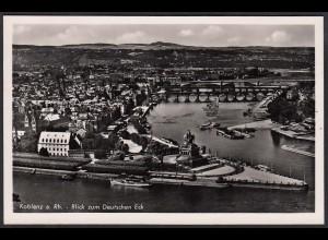 AK Echt Foto Koblenz a.Rhein zum Deutschen Eck (12290