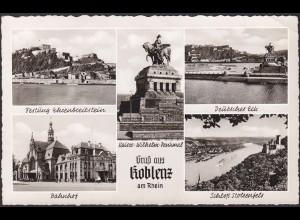 AK Koblenz am Rhein Kaiser Wilhelm Denkmal Mehrbildkarte (12293