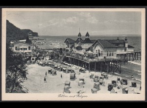 AK Sellin Rügen Strand Restaurant 1928 Strandkörbe (12299
