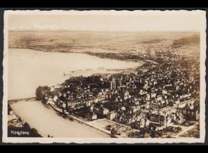 AK Photographiekarte Konstanz Gesamtansicht Luftbild 1930 (12302