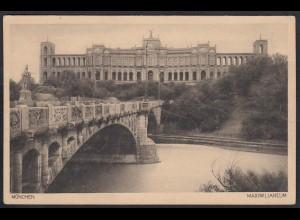 AK München Maximilianeum Brücke (12314