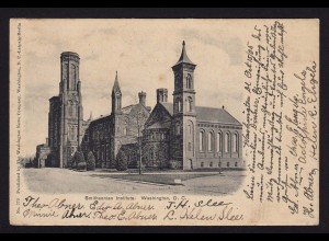 AK USA Washington D.C. Smithsonian Institute nach Leer 1905 (16297