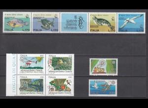 Italien - Italy Fische Vögel Tiere Wildlife postfrisch MNH (16294