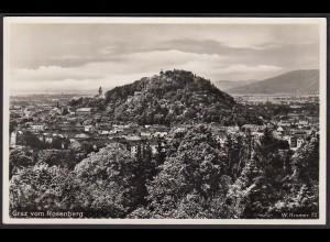 AK Echt Foto Graz vom Rosenberg Gesamtansicht (12371