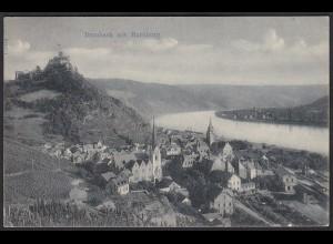 AK Braubach mit Marxburg Rhein Gesamtansicht (12372