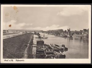 AK Echt Foto Wesel am Rhein Hafenpartie (12374