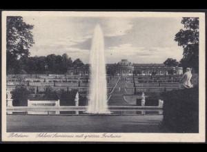 AK Potsdam Schloss Sanssouci mit grosser Fontaine (12378