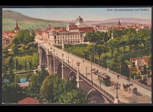AK Bern Kornhausbrüchke und Theater Strassenbahn (12398