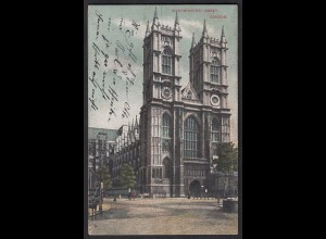 AK Westminster Abbey London 1910 (12410