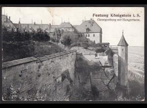 AK Festung Königstein i. S. Georgenburg mit Hungerturm (12414
