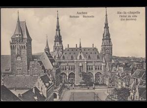 AK Aachen Rathaus Rückseite Aix La chapelle (12418