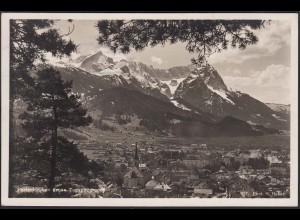 AK Garmisch Partenkirche gegen Zugspitzgruppe 1933 (12436