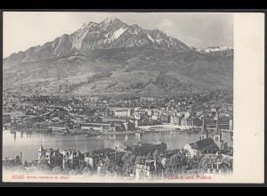 AK Luzern mit See und Pilatus Gesamtansicht (12450