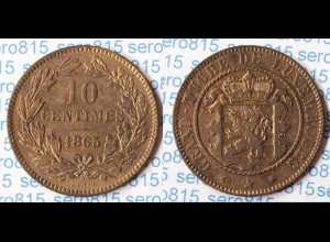 Luxemburg - Luxembourg 10 C. 1865 A WILLEM III Erhaltung (p320