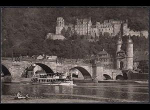 AK Heidelberg Alte Neckarbrücke und Schloß (12463