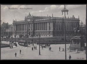 AK Stockholm Riksdagshuset Reichstagsgebäude 1911 (12473