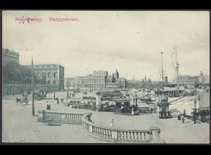 AK Stockholm Skeppsbron Hafenpartie 1910 (12483