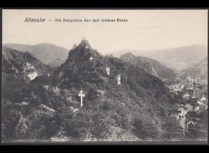 AK Altenahr Die Burgruine Are und weisses Kreuz (12496