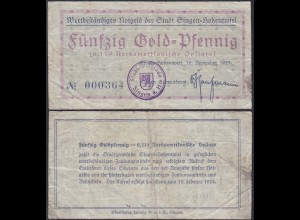 Baden - Singen 50 Gold Pfennig Notgeld 1923 (13053