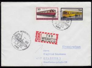 Nördlingen 1971 Sonder R-Zettel auf Brief Tag der Eisenbahn (17510