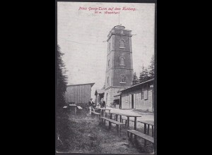AK Prinz Georg Turm auf dem Kuhberg Erzgebirge (12582