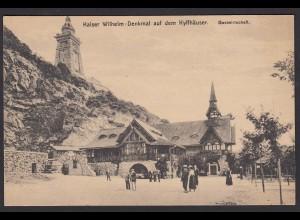 AK Kaiser Wilheim Denkmal auf dem Kyffhäuser Gastwirtschaft (12590