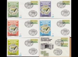 ATM-BRD Ersttag 27.9.1982 Wiesbaden 5-135 Pfg. 1.Schalterwertzeichendrucker