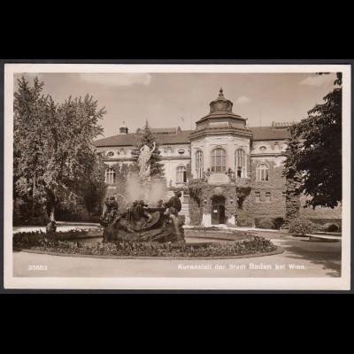 AK Kuranstalt der Stadt Baden bei Wien (12592