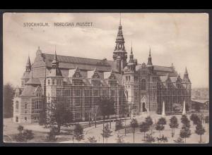 AK Stockholm Nordiska Museet 1910 (12603