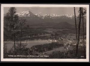 AK Velden am Wörthersee mit Mittagskogel Triglav 1941 (12605