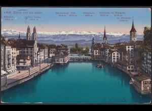 AK Zürich Innenstadt Alpen Bifertenstock Tödl Scheerhorn (12611