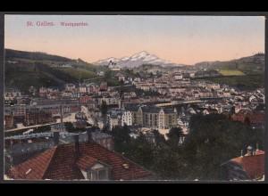 AK St. Gallen Westquartier Gesamtansicht 1917 (12617