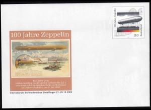 BRD BUNDESREPUBLIK Bund Sonder-Ganzsachen Zeppelin 110 Pfg. 2000 (14474