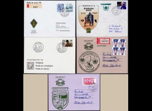 5 Stück moderne Feldpost-Briefe 1986/89 teils Einschreiben (14475