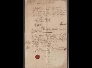 Altena Sauerland Zeitbeleg Preussisches Stadtgericht 1844 / 1798 (14478