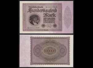 Reichsbanknote 100.000 100000 Mark 1923 Rosenberg 82a XF/UNC (15269