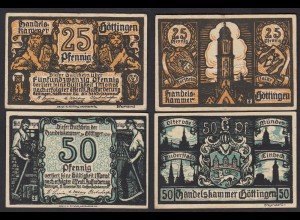 Niedersachsen - Göttingen Handelskammer 25 + 50 Pfennig Notgeld (17881