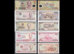 Vietnam 200 - 10000 Dong 5 Banknoten UNC (1) (17886