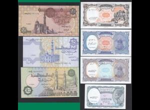 Ägypten - Egypt - 1 - 50 Piaster 7 Banknoten UNC (17887