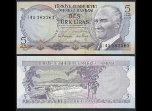 Türkei - Turkey 5 Lirasi Banknote 1970 (1976) Pick 185 UNC (1) (17891
