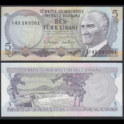 Türkei - Turkey 5 Lirasi Banknote 1970 Pick 185 UNC (17891