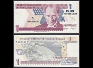 Türkei - Turkey 1 Lira Banknote 2005 Pick 216 UNC ATATÜRK (17894