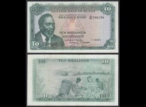 KENIA - KENYA 10 Shillings Banknote 1973 Pick 7d XF (18018